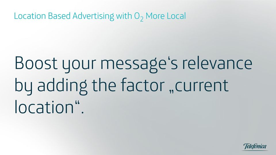 your message s relevance by