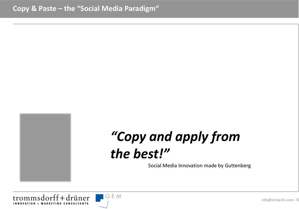 best! Social Media Innovation