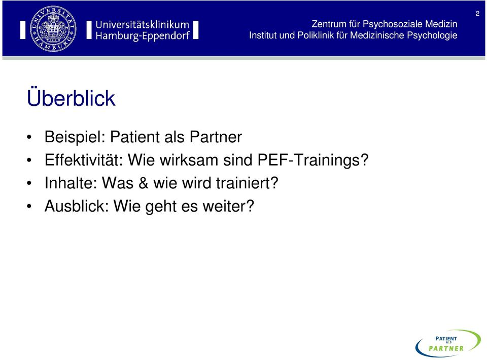 sind PEF-Trainings?
