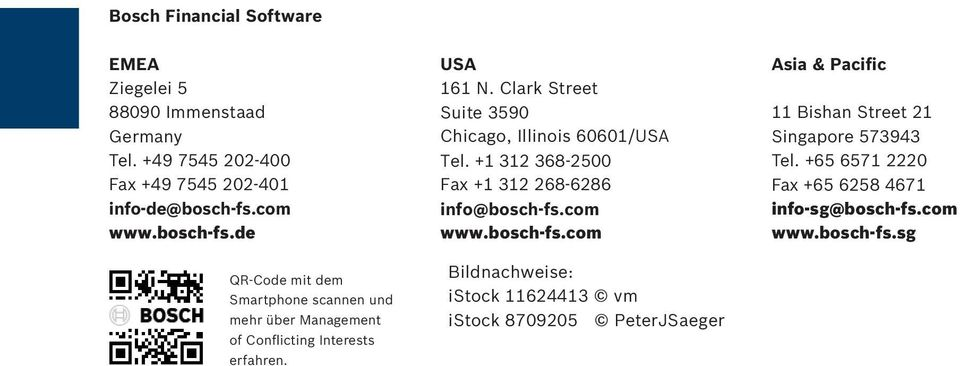 Clark Street Suite 3590 Chicago, Illinois 60601/USA Tel. +1 312 368-2500 Fax +1 312 268-6286 info@bosch-fs.
