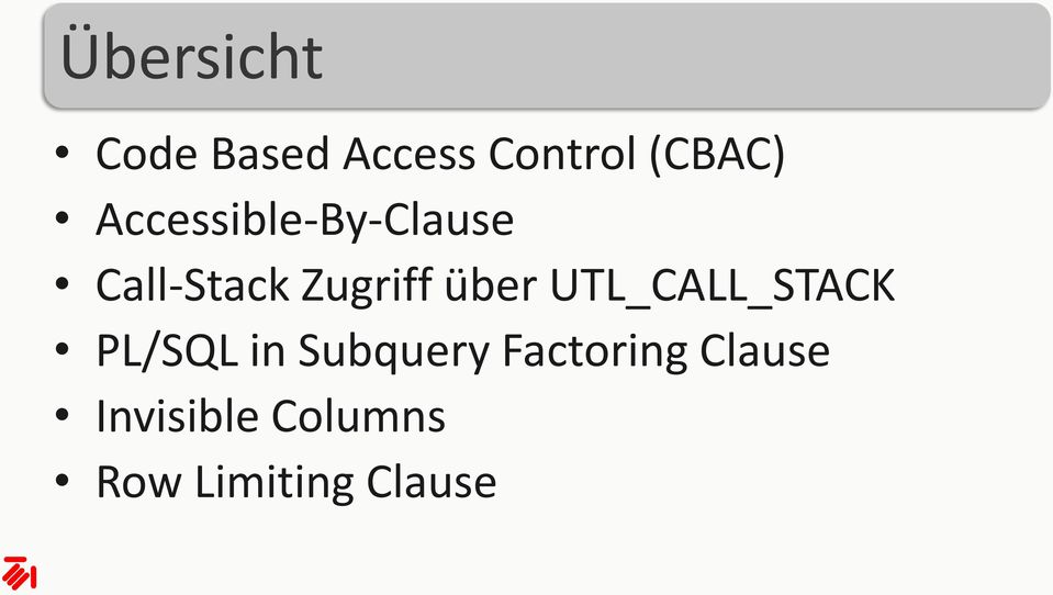 über UTL_CALL_STACK PL/SQL in Subquery