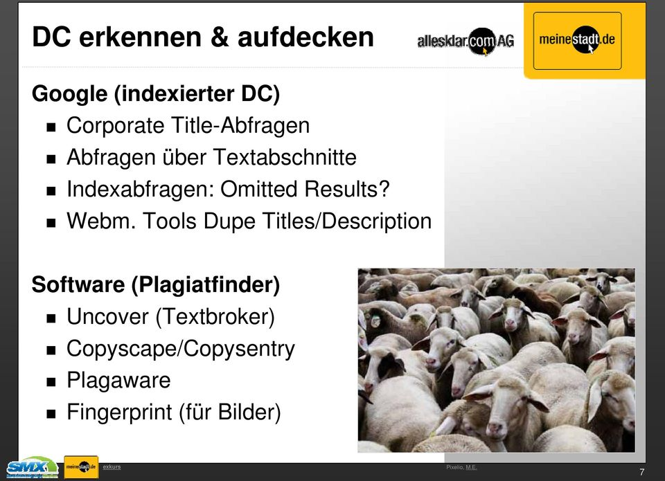Tools Dupe Titles/Description Software (Plagiatfinder) Uncover