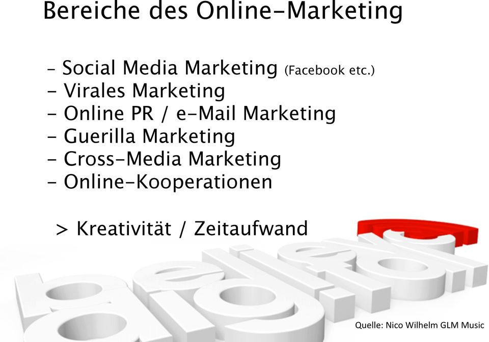 ) - Virales Marketing - Online PR / e-mail Marketing -