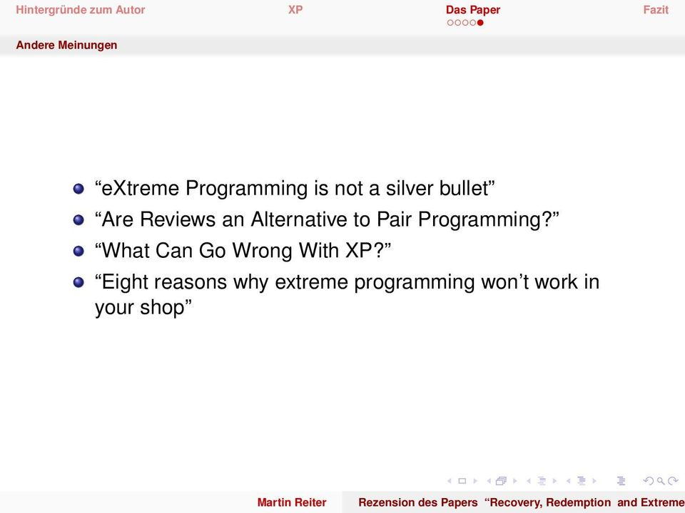 Programming? What Can Go Wrong With XP?