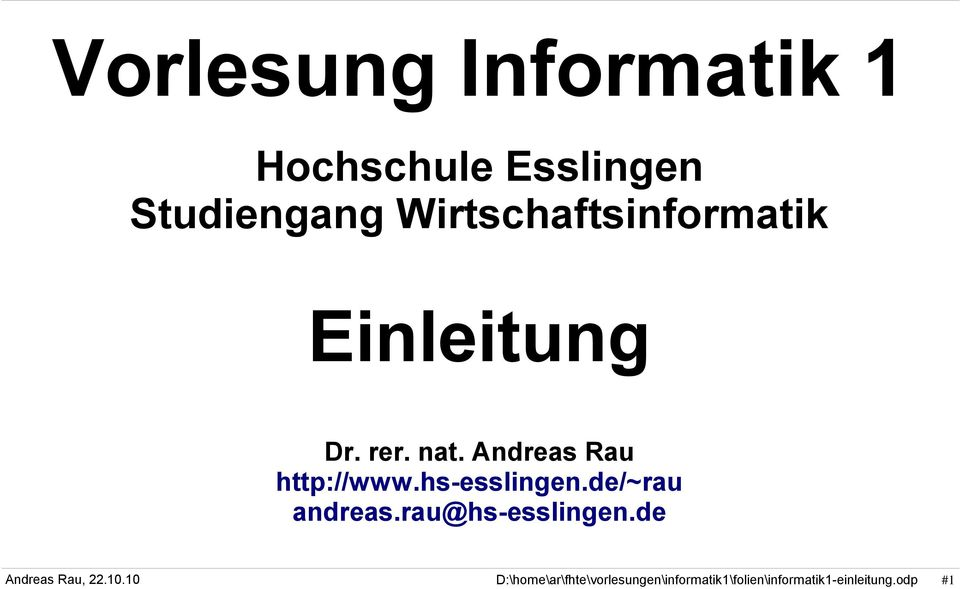 Dr. rer. nat. Andreas Rau http://www.