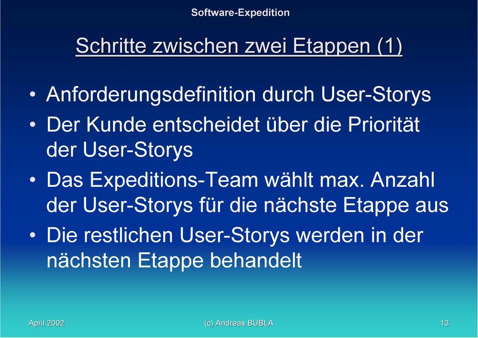 Expeditions-Team wählt max.