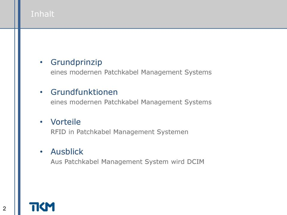 Management Systems Vorteile RFID in Patchkabel