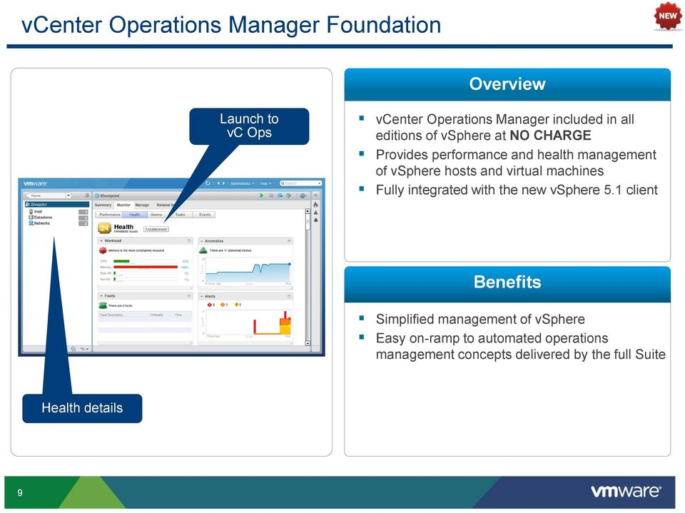 virtual machines Fully integrated with the new vsphere 5.