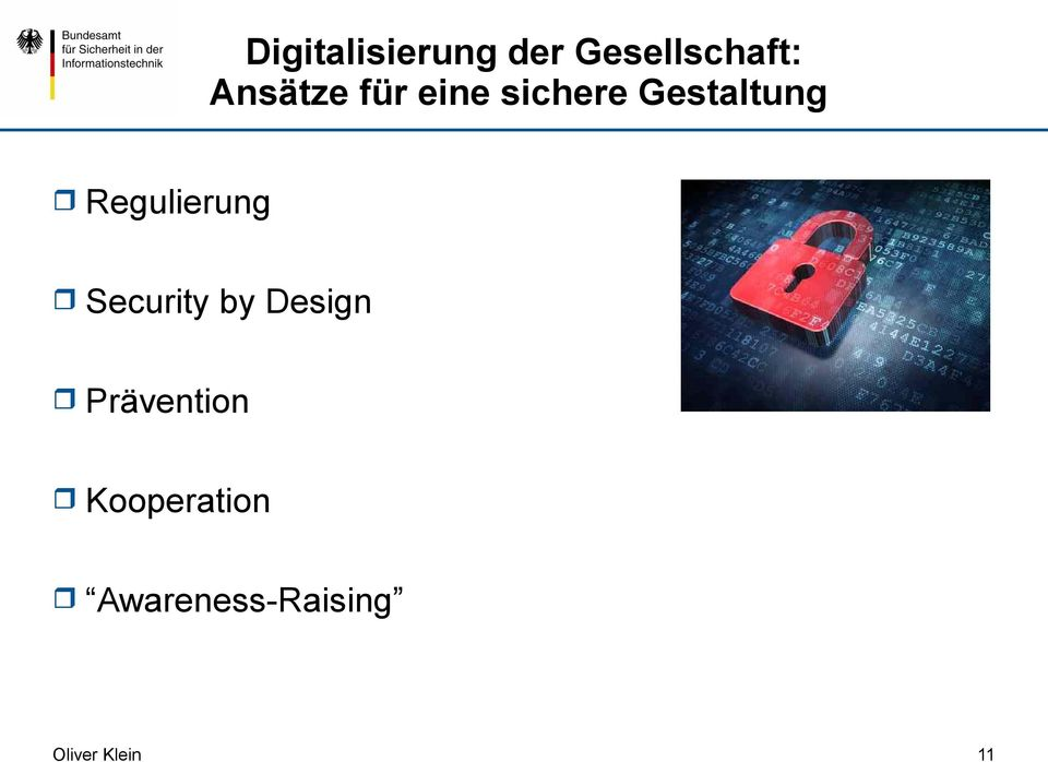 Regulierung Security by Design
