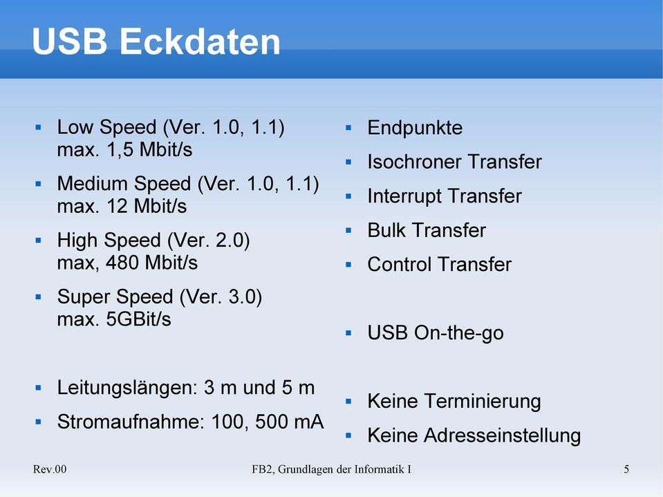 480 Mbit/s Super Speed (Ver. 3.0) max.