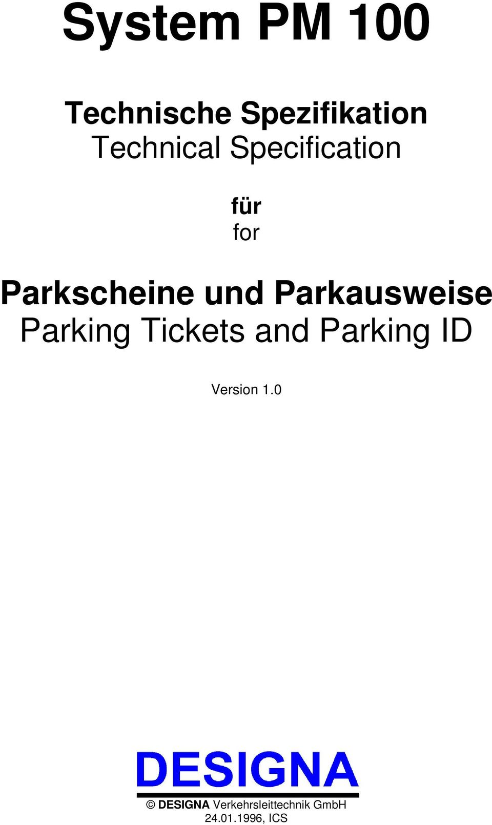 Parkausweise Parking Tickets and Parking ID