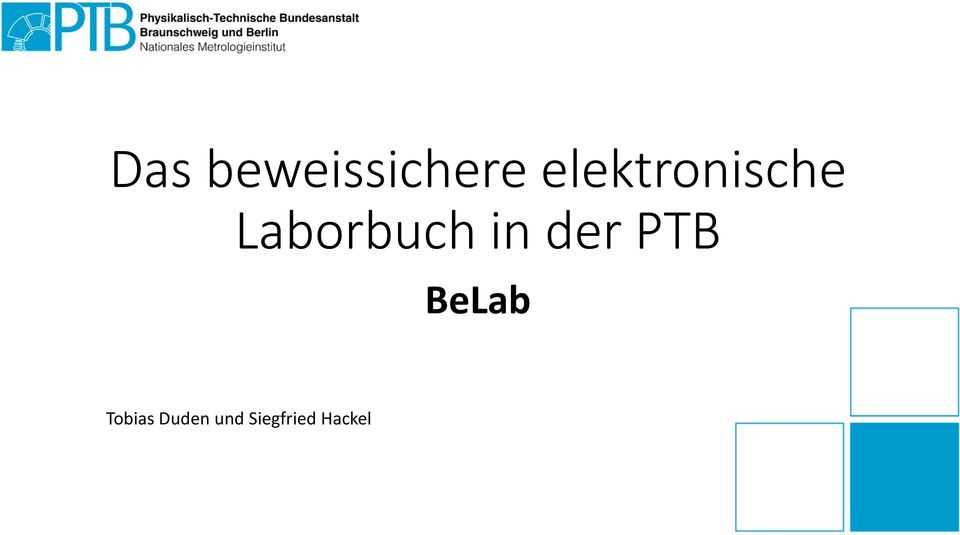 Laborbuch in der PTB