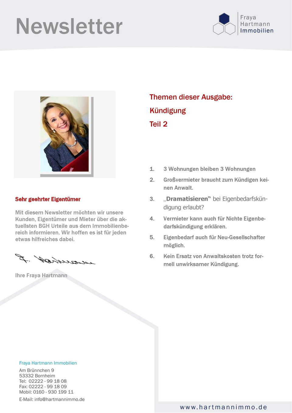 Old Fashioned Immobilien Newsletter Composition - FORTSETZUNG ...