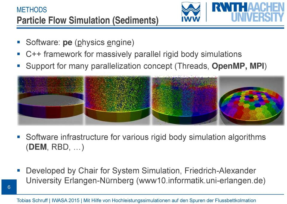 MPI) Software infrastructure for various rigid body simulation algorithms (DEM, RBD, ) 6 Developed by