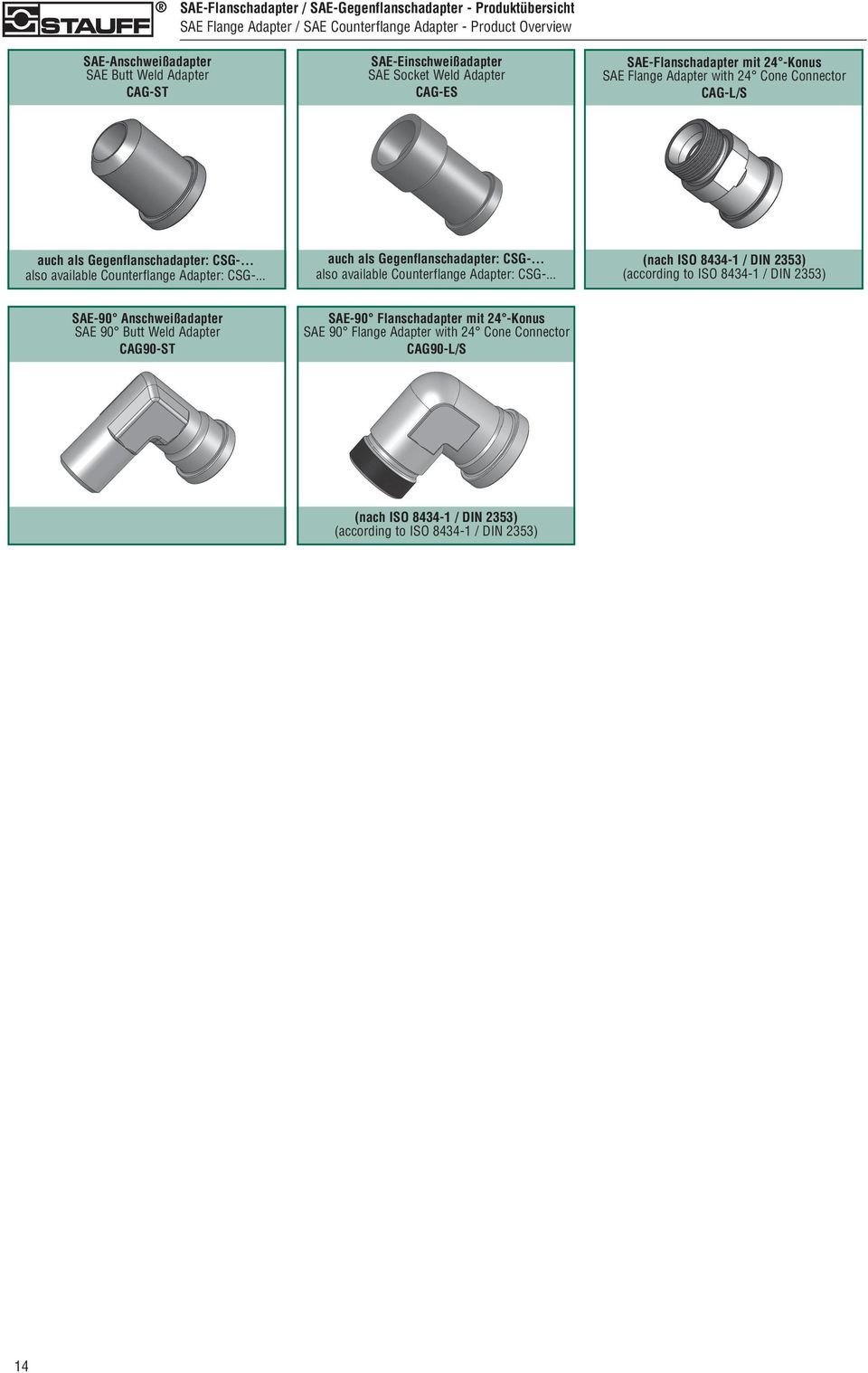 .. also available Counterflange Adapter: CSG-.