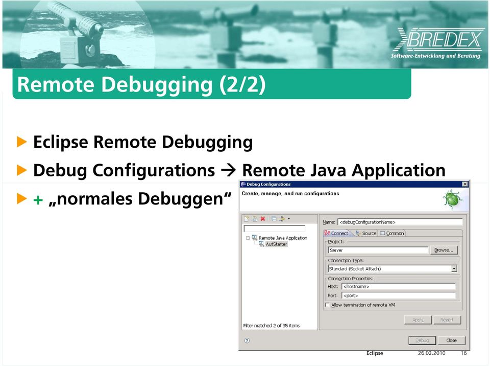 Configurations Remote Java