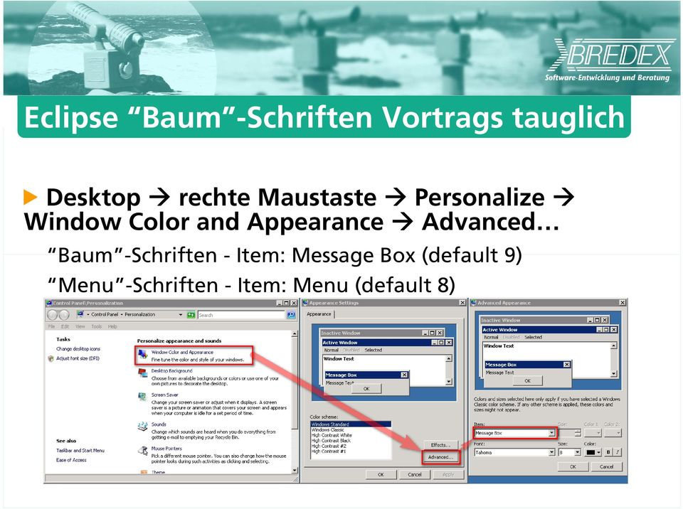 Appearance Advanced Baum -Schriften - Item: