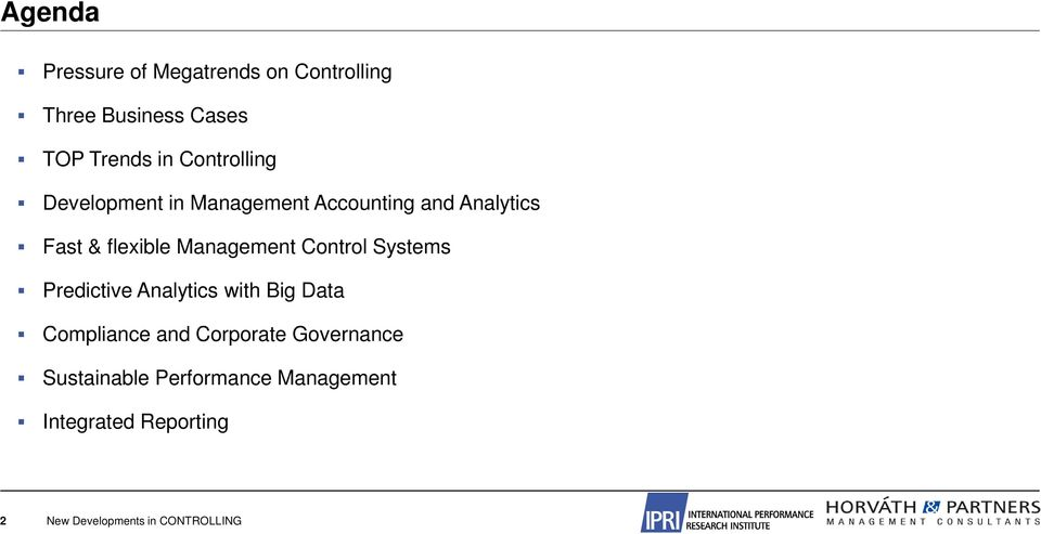 Management Control Systems Predictive Analytics with Big Data Compliance and Corporate