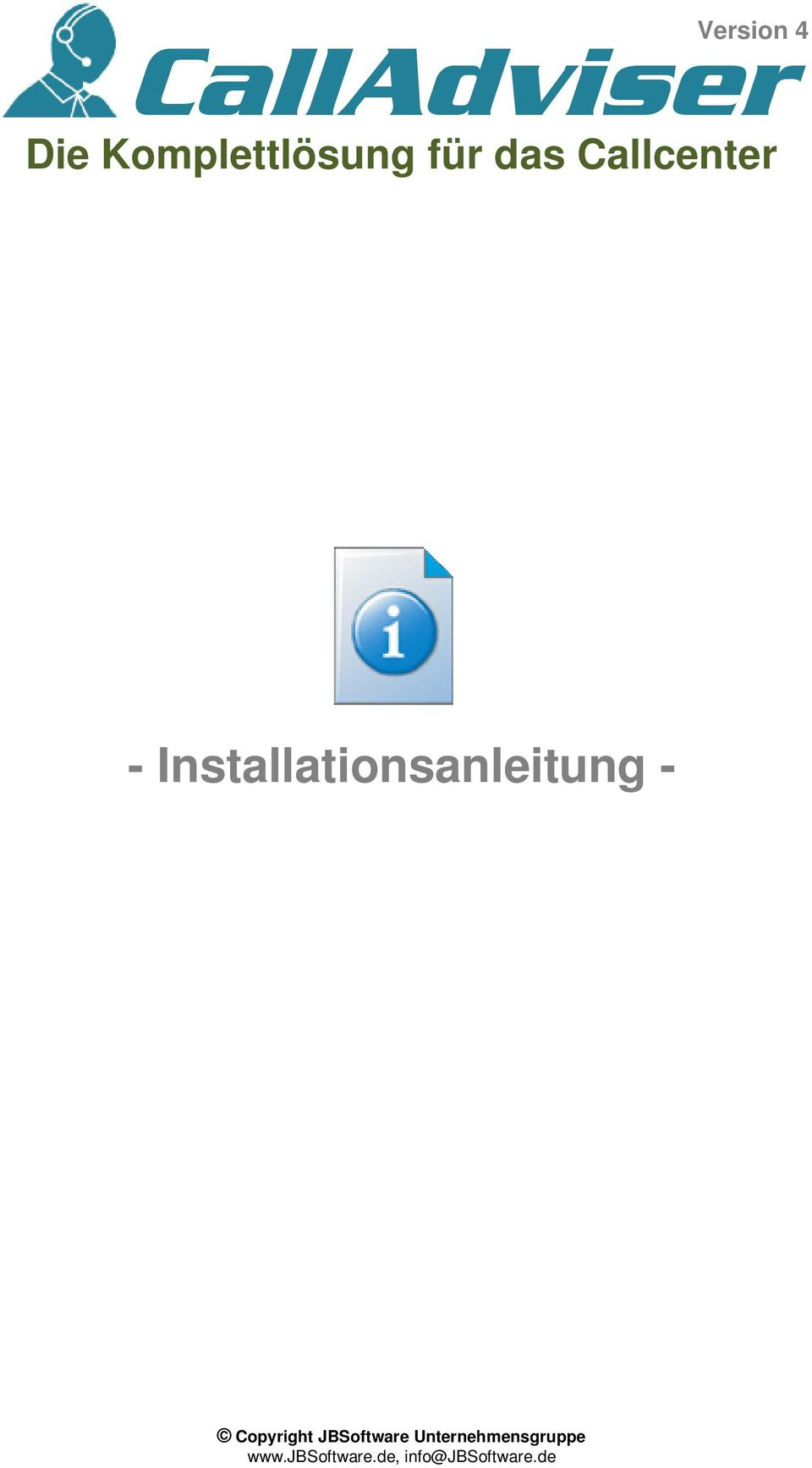 Installationsanleitung - Copyright