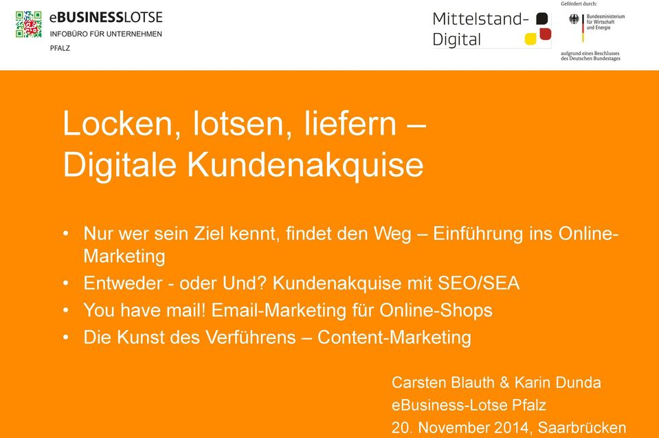 Kundenakquise mit SEO/SEA You have mail!
