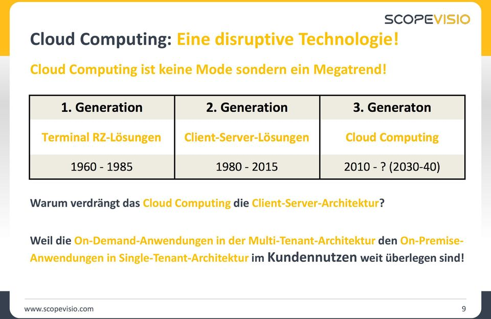 Warum verdrängt das Cloud Computing die Client-Server-Architektur?