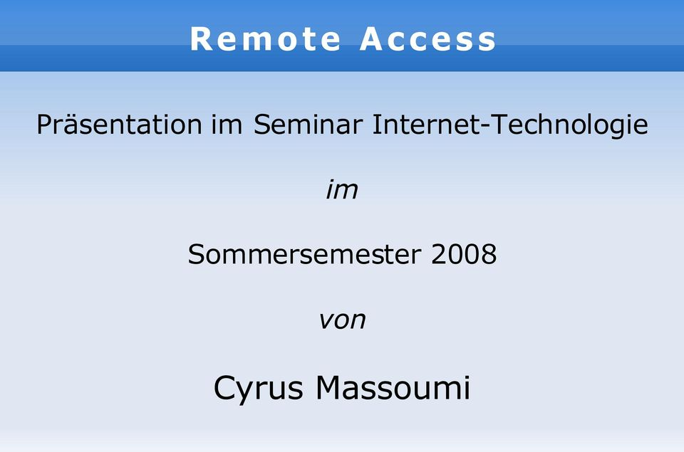 Internet-Technologie im