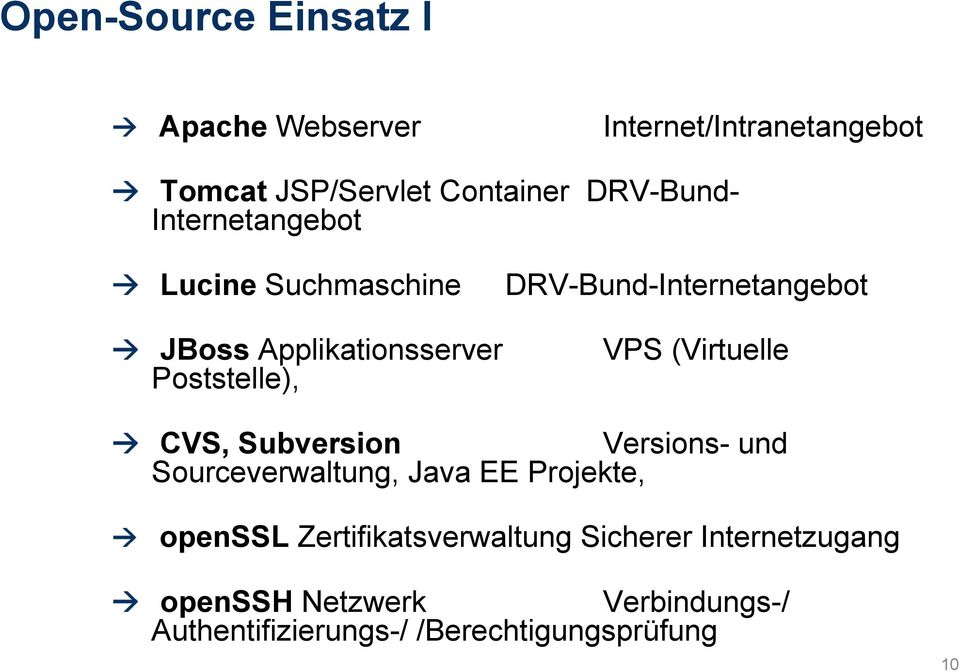 (Virtuelle CVS, Subversion Versions- und Sourceverwaltung, Java EE Projekte, openssl