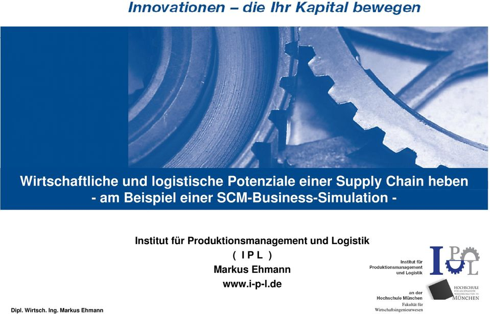 SCM-Business-Simulation - Institut für