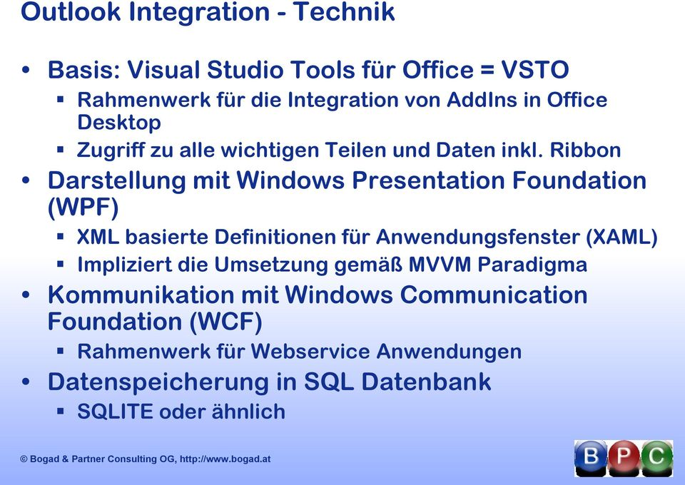 Ribbon Darstellung mit Windows Presentation Foundation (WPF) XML basierte Definitionen für Anwendungsfenster (XAML)