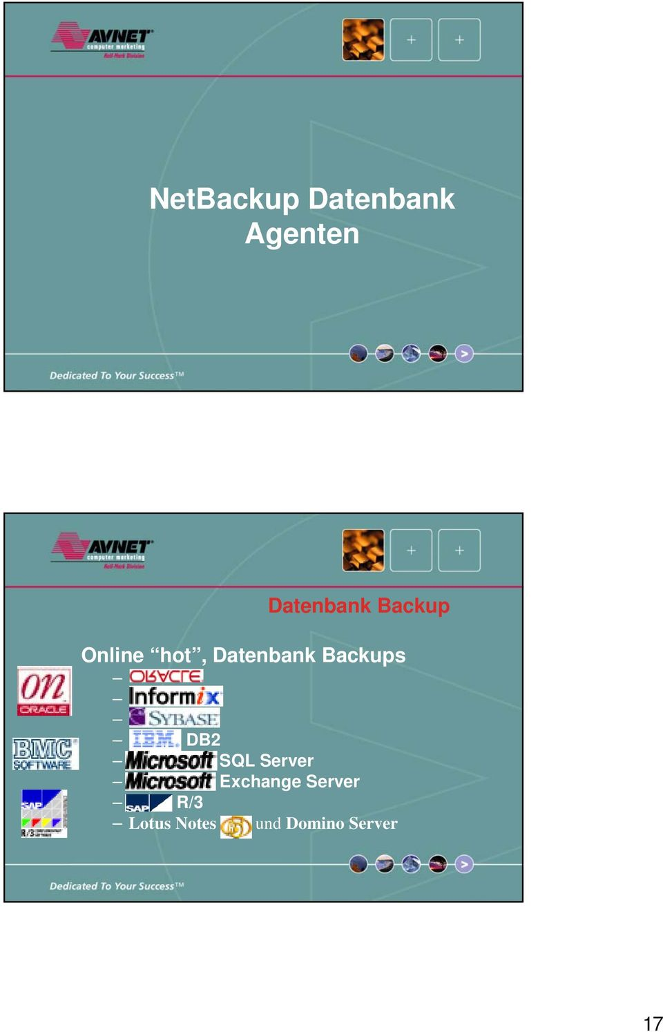 Datenbank Backups DB2 SQL Server