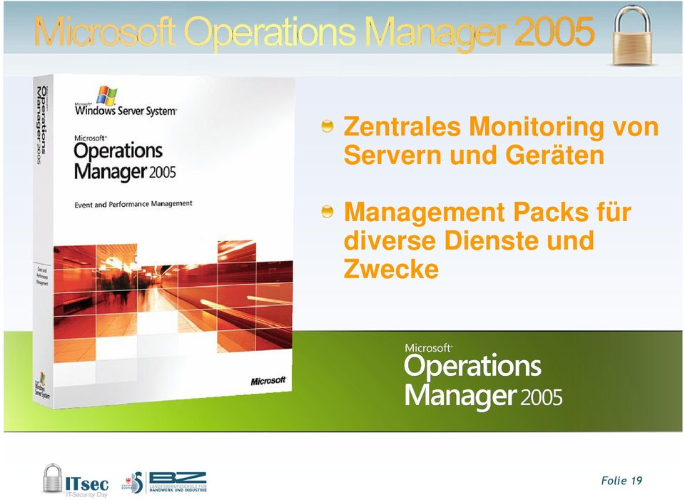 Management Packs für