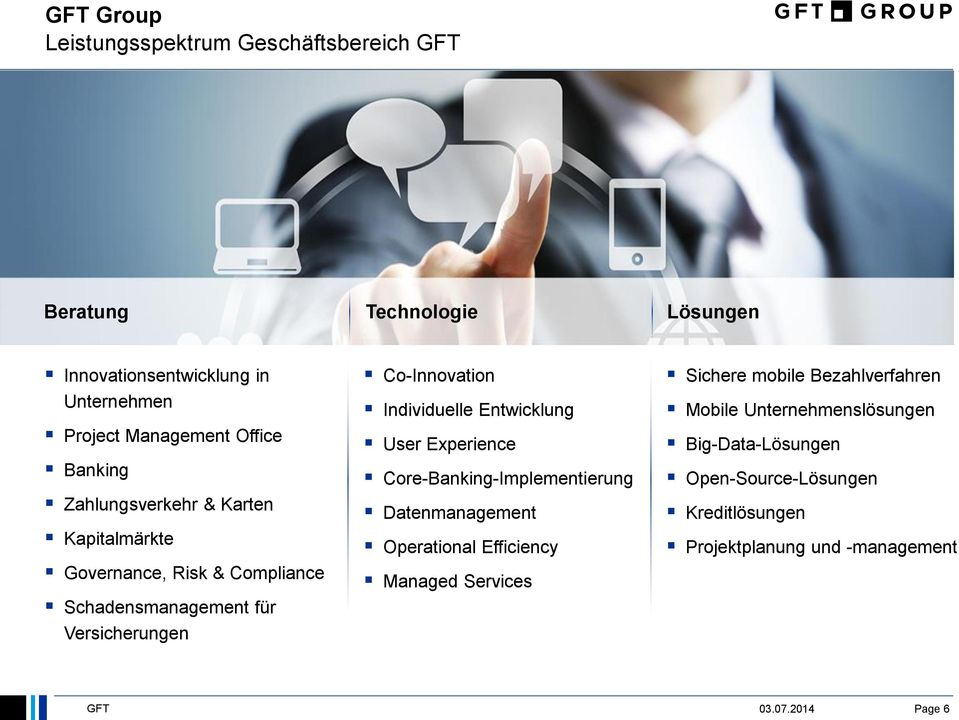Individuelle Entwicklung User Experience Core-Banking-Implementierung Datenmanagement Operational Efficiency Managed Services Sichere