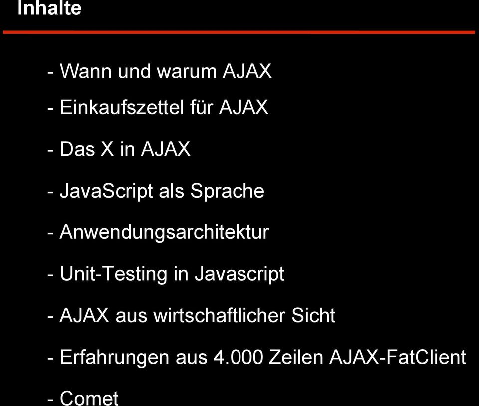 Anwendungsarchitektur - Unit-Testing in Javascript - AJAX