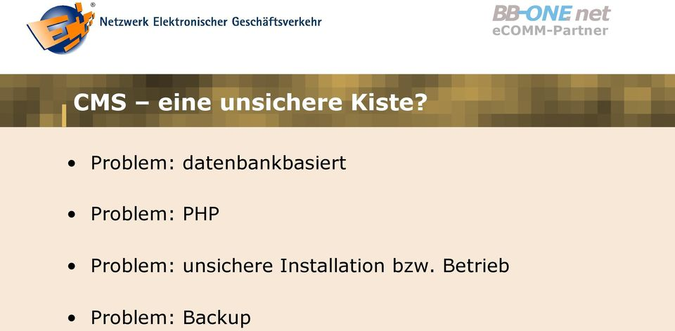 Problem: PHP Problem: unsichere