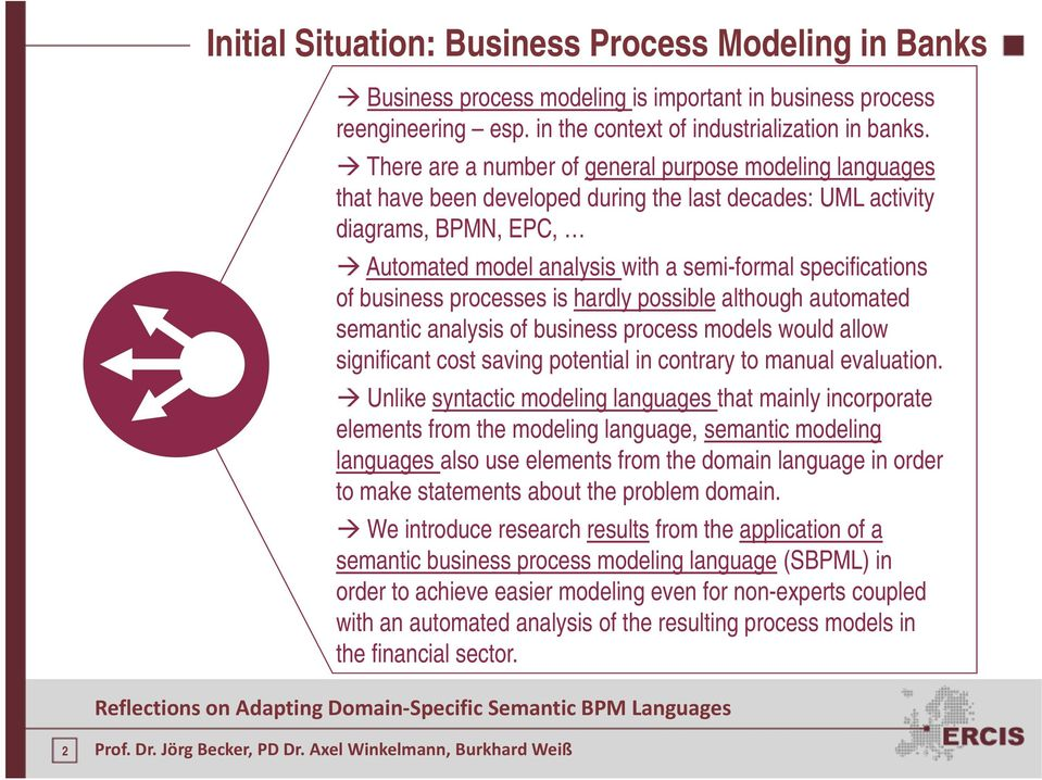 of business processes is hardly possible although h automated t semantic analysis of business process models would allow significant cost saving potential in contrary to manual evaluation.