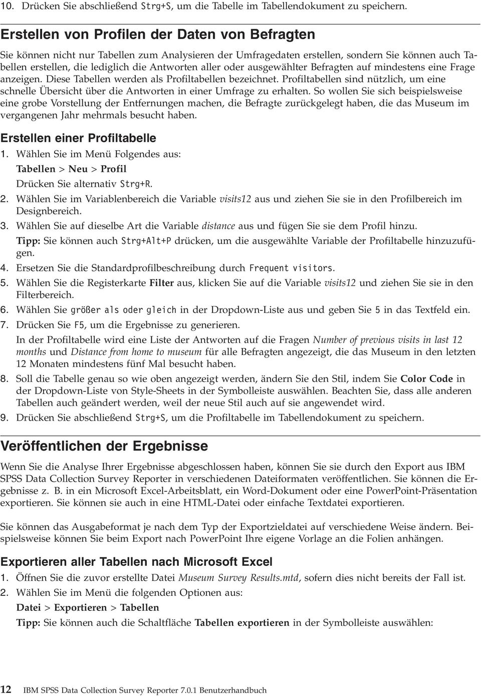 IBM SPSS Data Collection Survey Reporter Benutzerhandbuch - PDF