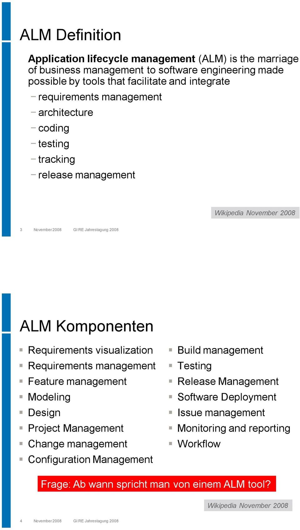 visualization Requirements management Feature management Modeling Design Project Management Change management Configuration Management Build management Testing