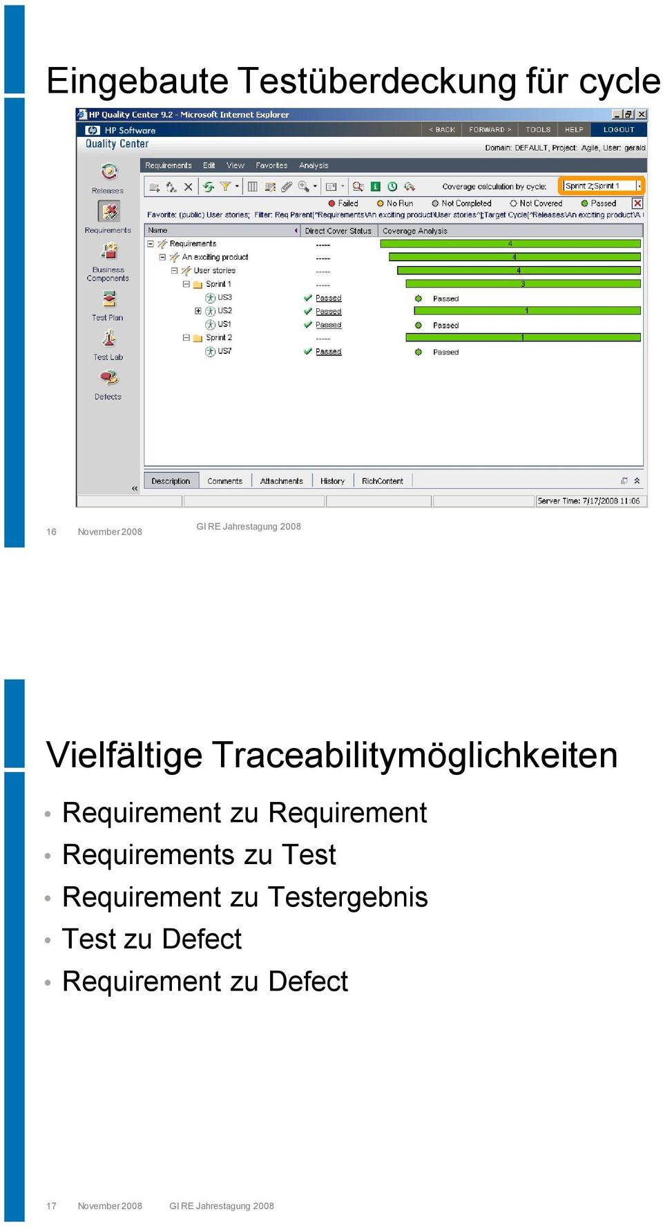 Requirement Requirements zu Test Requirement zu