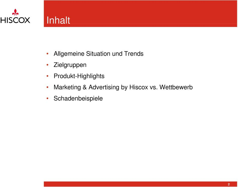 Produkt-Highlights Marketing &