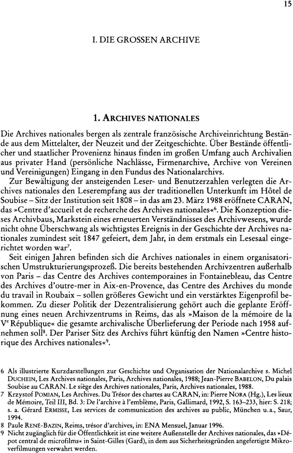 Eingang in den Fundus des Nationalarchivs.