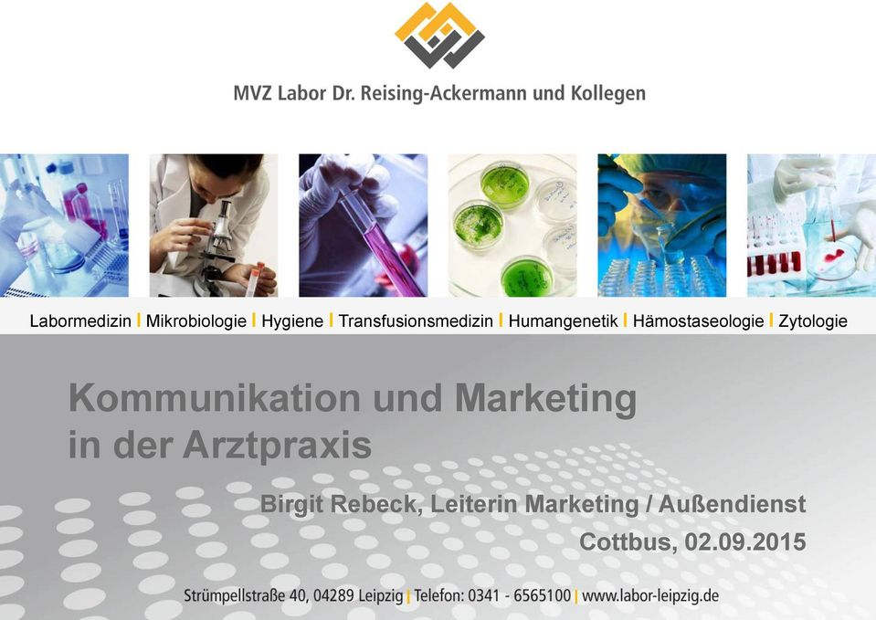 Zytologie Kommunikation und Marketing in der