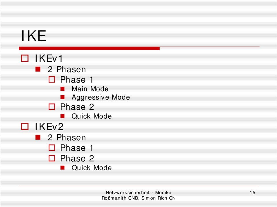 Phase 2 Quick Mode IKEv2 2