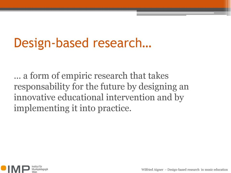 future by designing an innovative