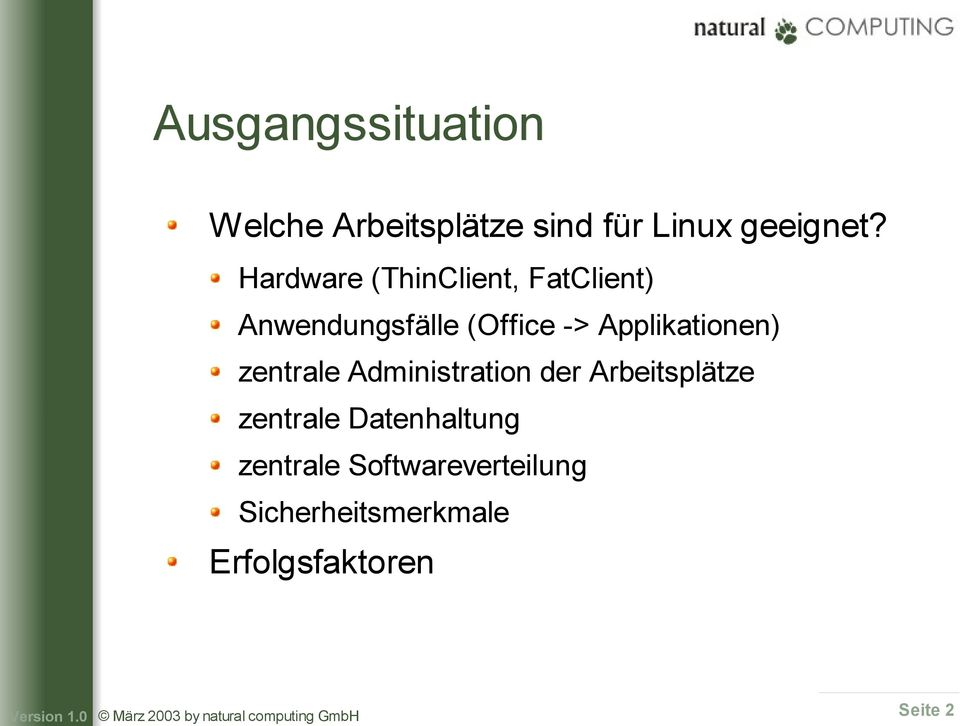 Hardware (ThinClient, FatClient) Anwendungsfälle (Office ->
