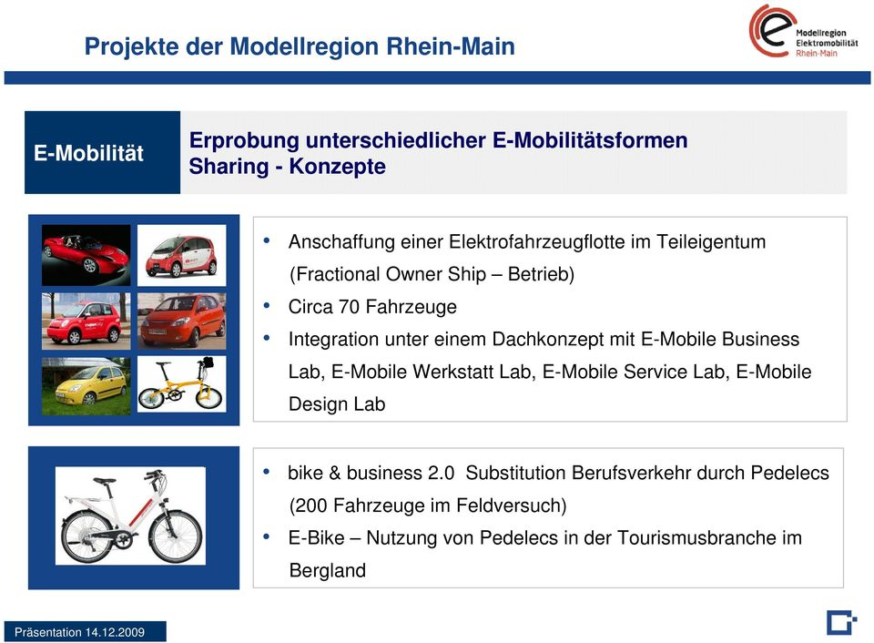 Dachkonzept mit E-Mobile Business Lab, E-Mobile Werkstatt Lab, E-Mobile Service Lab, E-Mobile Design Lab bike & business 2.