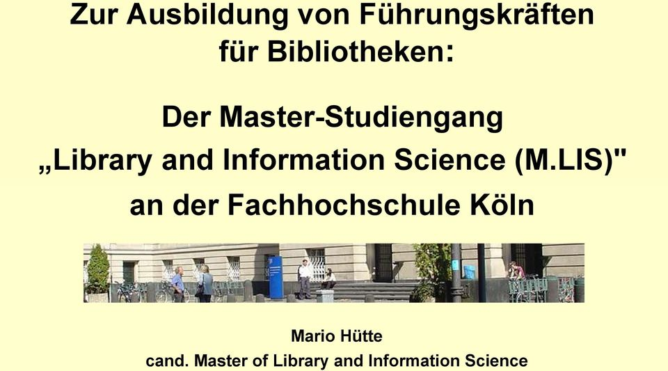 Information Science (M.