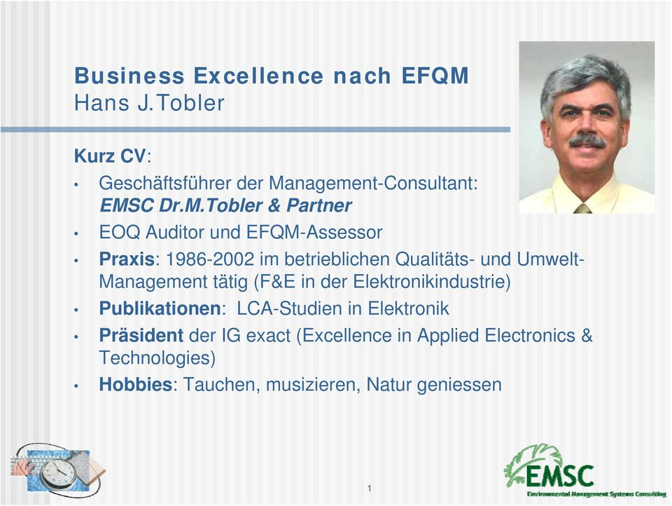 nagement-Consultant: EMS