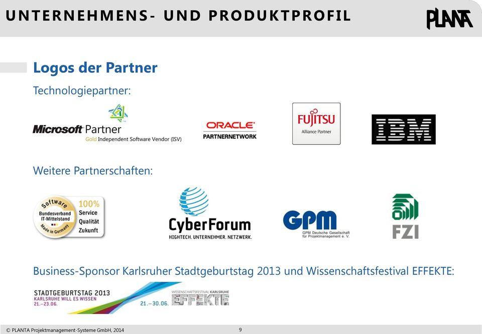 Partnerschaften: Business-Sponsor