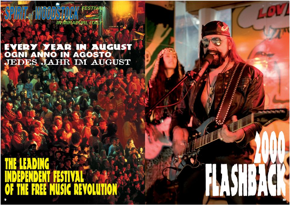 AUGUST THE leading INDEPENDENT FESTIVAL OF