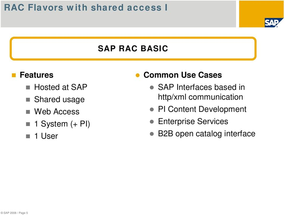 Cases SAP Interfaces based in http/xml communication PI Content